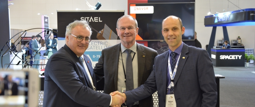SITAEL and Inovor Technologies sign a LOI for the development of innovative small satellites in South Australia