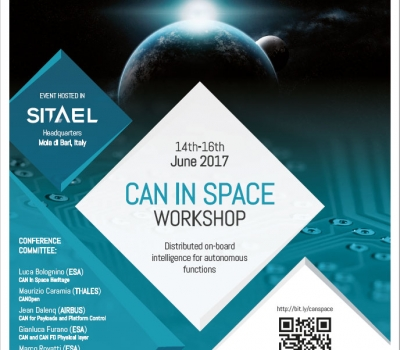 Sitael hosts ESA Workshop – CAN in Space