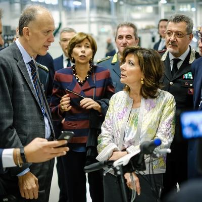 The Italian President of Senate visited SITAEL Headquarters