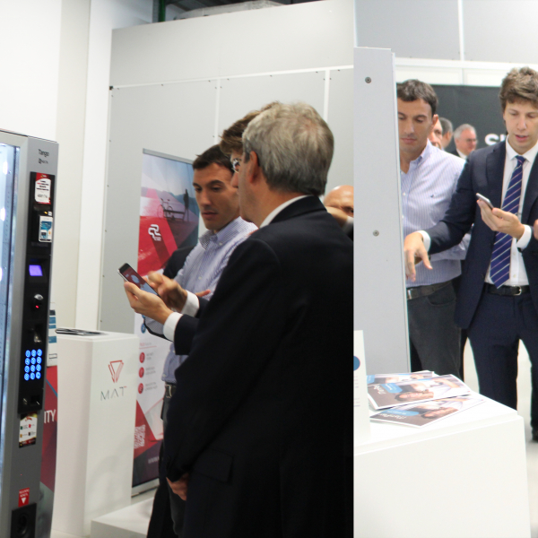 Mr. Matteo Pertosa presents MatiPay App for Vending to the President Mr. Gentiloni