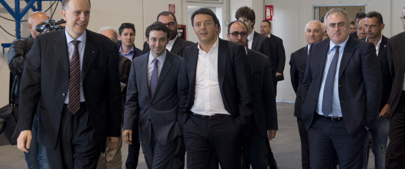 Italian Prime Minister Matteo Renzi meets Angelo Investments top management in Monopoli.